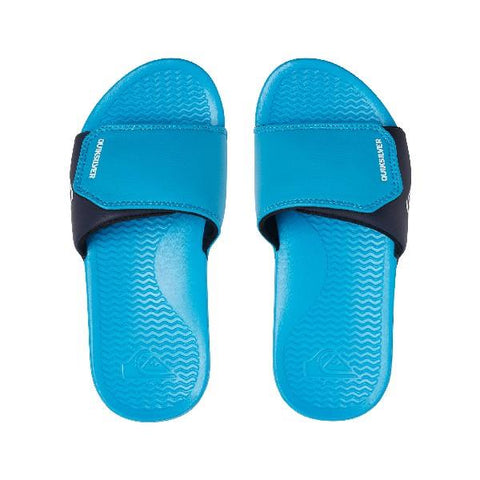 Quiksilver Shoreline Adj Slider Sandals Boys Teal Blue | Sneakers Plus