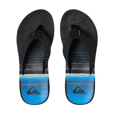 Quiksilver Carver Print Boys Sandals Black-Blue | Sneakers Plus