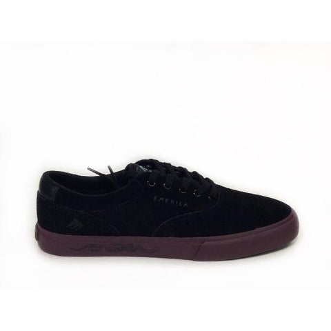 Emerica Provost Slim X Toy Machine Mens Skate Shoe Black-Purple | Sneakers Plus
