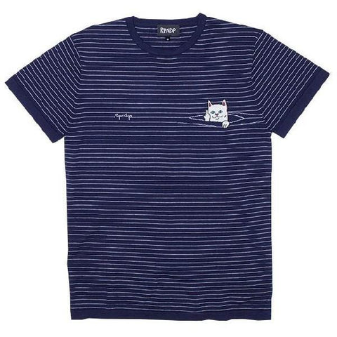 RipNDip Tell Me Mens Tees Navy Stripe | Sneakers Plus