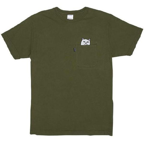 RipNDip Lord Nermal Mens Tees Army | Sneakers Plus
