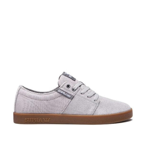 Supra Stacks ll Mens Skate Shoe Grey-Gum | Sneakers Plus