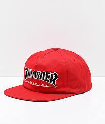Thrasher Outlined SnapBack Mens Hats Red | Sneakers Plus