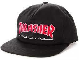 Thrasher Outlined SnapBack Mens Hats Black | Sneakers Plus