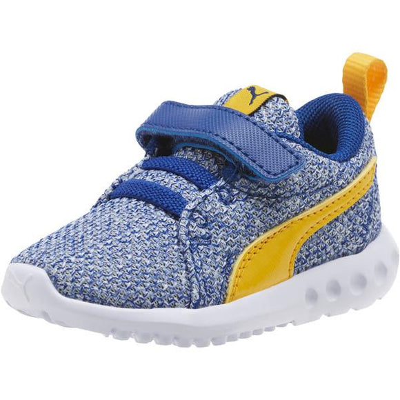 Puma Carson 2 Bold Knit Toddler Running Blue-Yellow | Sneakers Plus