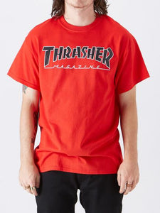 Thrasher Outlined Tee Mens Tshirt Red | Sneakers Plus