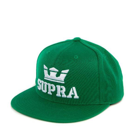 Supra Above SnapBack Mens Hat Green-White | Sneakers Plus