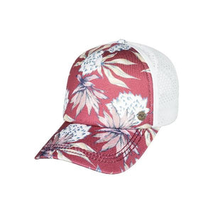 Roxy Waves Machines Womens Trucker Hat Pink Flower | Sneakers Plus