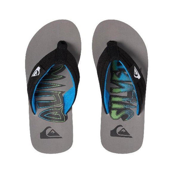 Quiksilver Molokai Layback Boys Sandals Grey-Blue | Sneakers Plus