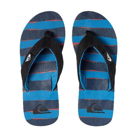 Quiksilver Molokai Layback Boys Sandals Grey-Blue Stripe | Sneakers Plus