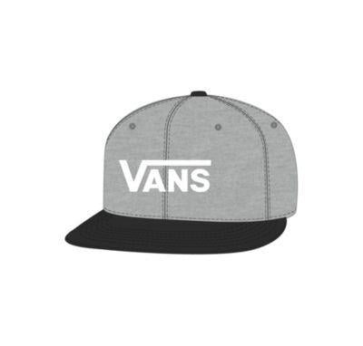Vans Drop V Snapback Mens Hat Grey | Sneakers Plus