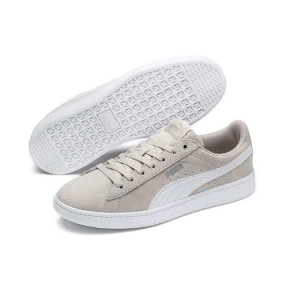 Puma Vikky v2 Womens Court Shoe Silver-Grey White | Sneakers Plus