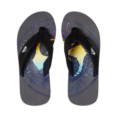Quiksilver Molokai Layback Boys Sandals Grey-Yellow | Sneakers Plus