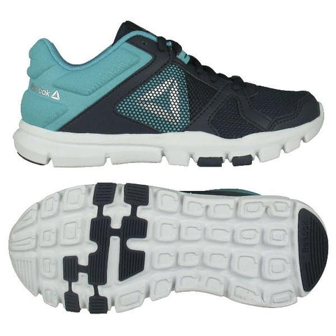 Reebok YourFlex Train 10 Girls Run Shoe Navy-Teal | Sneakers Plus