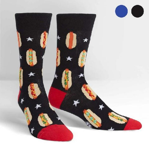 Sock It To Me Mens Crew Socks Foot Long Hotdogs | Sneakers Plus