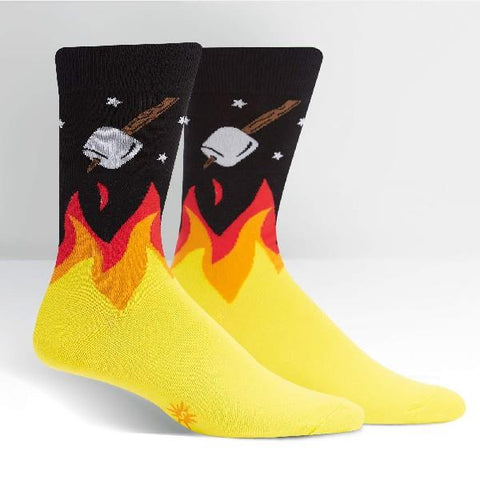 Sock It To Me Mens Crew Socks S'more to Love | Sneakers Plus