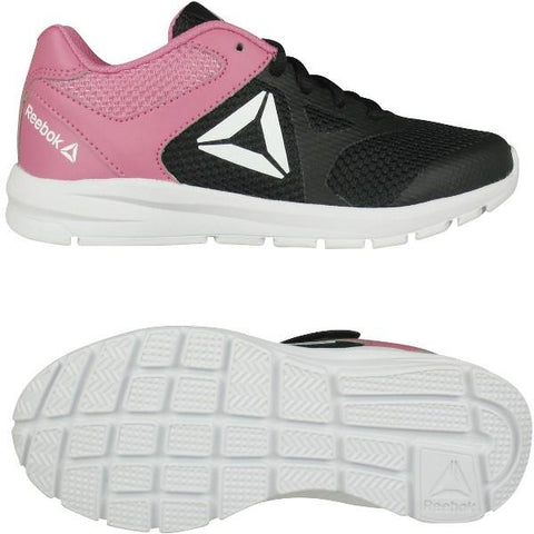 Reebok Rush Runner Girls Running Shoe Black-Pink | Sneakers Plus