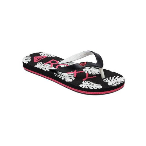 Roxy Girls Tahiti Flip Flops Black-Pink | Sneakers Plus