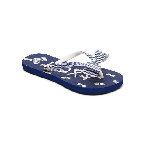 Roxy Girls Lulu Flip Flops Navy-Stripe | Sneakers Plus