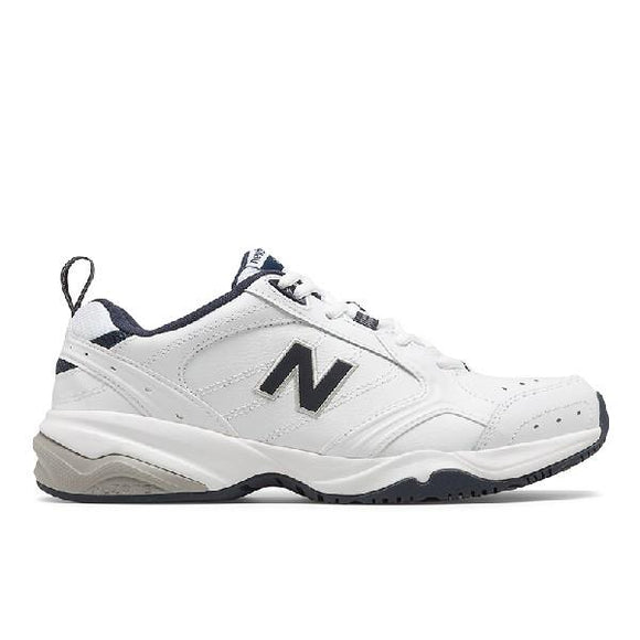 New Balance 624 Mens Training Shoe White-Navy Blue | Sneakers Plus