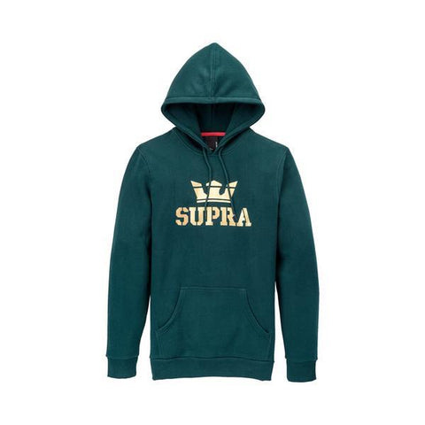 Supra Above Pullover Mens Hoodies Evergreen-Gold | Sneakers Plus