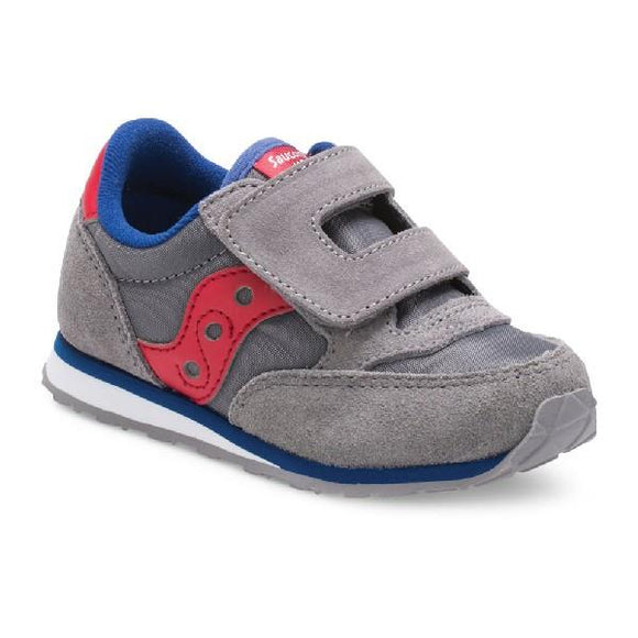 Saucony Baby Jazz Toddler Sneaker Grey-Red | Sneakers Plus