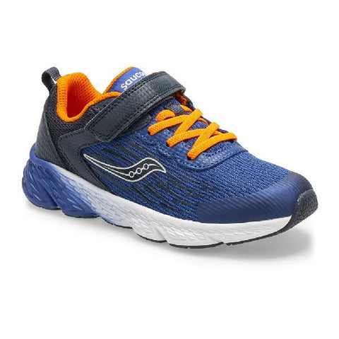 Saucony S-Wind A/C Boys Running Shoe Navy | Sneakers Plus