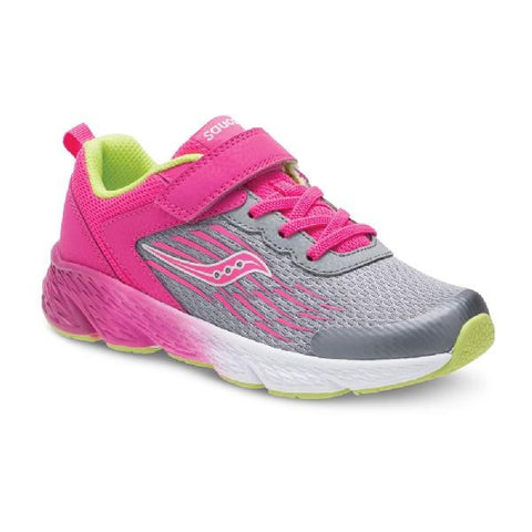 Saucony S-Wind A/C Girls Running Shoe Grey-Pink | Sneakers Plus