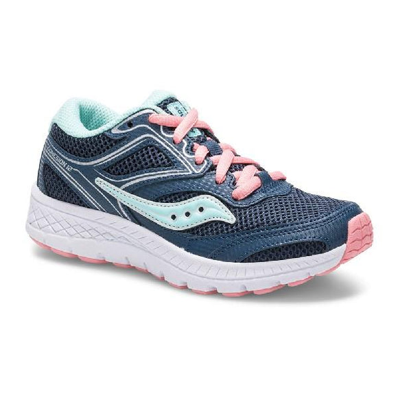 Saucony S-Cohesion Girls Running Shoe Navy-Turquoise | Sneakers Plus