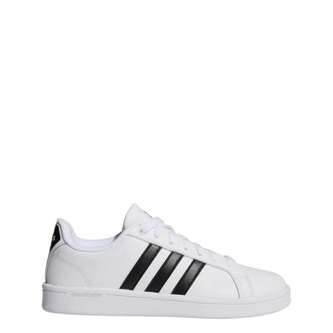 Adidas Baseline Kids Casual Shoe White-Black | Sneakers Plus