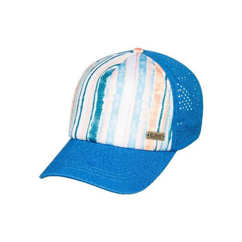 Roxy Waves Machines Trucker Hat Bright White River | Sneakers Plus