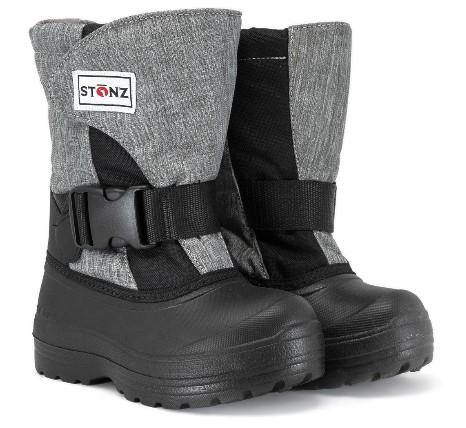 Stonz Trek Kids Winter Boots Heather Grey-Black | Sneakers Plus