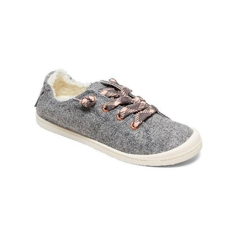 Roxy Bayshore Fur Womens Shoe Grey | Sneakers Plus