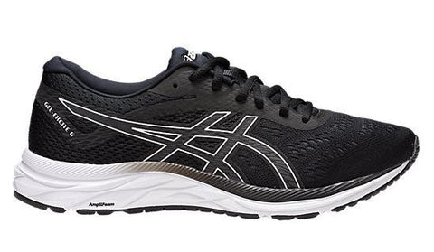 Asics Gel-Excite 6 4E Men Running Shoe Black-White | Sneakers Plus