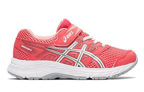 Asics Contend 5 PS Girls Running Shoes Pink Cameo-White | Sneakers Plus