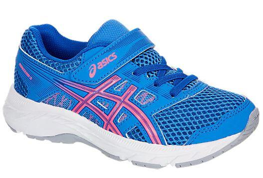 Asics Contend 5 PS Girls Running Shoes Blue Coast-Hot Pink | Sneakers Plus