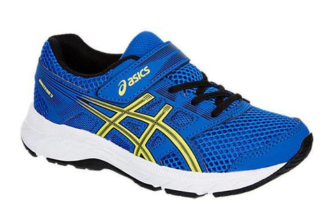 Asics Contend 5 PS Boys Running Shoes Illusion Blue-Lemon | Sneakers Plus
