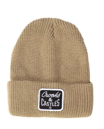 Crooks & Castles Reverse Core Beanie Olive | Sneakers Plus