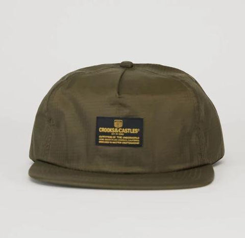 Crooks & Castles Headlines SB Mens Hat Olive | Sneakers Plus