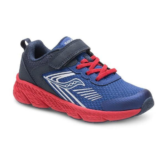 Saucony S-Wind Preschool Running Shoes Navy-Red | Sneakers Plus