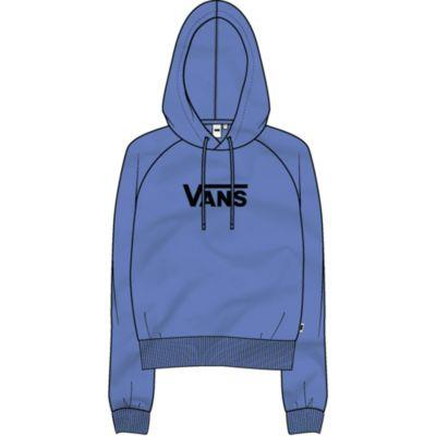 Vans Flying V Boxy Womens Crop Hoodie Ultramarine | Sneakers Plus