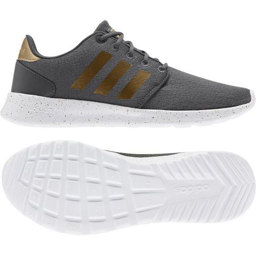 Adidas QT Racer Womens Lifestyle Shoe Grey-Gold | Sneakers Plus