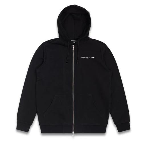 Crooks&Castles Bold Zip Mens Hoodie Black | Sneakers Plus