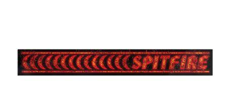 Spitfire Barred Sticker Medium Red | Sneakers Plus