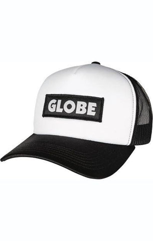 Globe Chief Mens Trucker Hat Black-White | Sneakers Plus