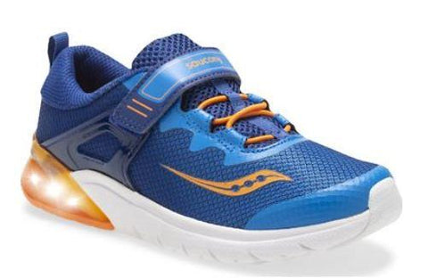 Saucony Flash A/C Boys Running Shoes Blue-Orange | Sneakers Plus