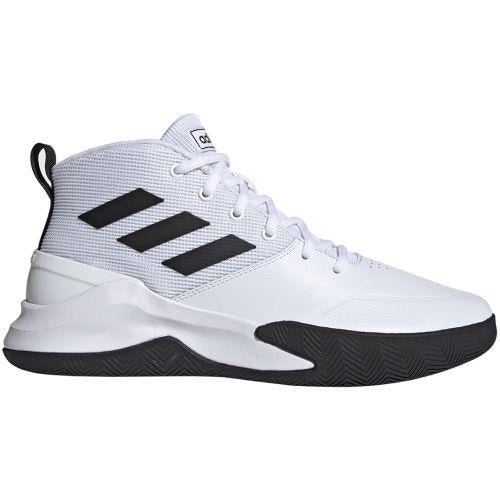 Adidas OwnTheGame Mens Basketball Shoes White-Black | Sneakers Plus