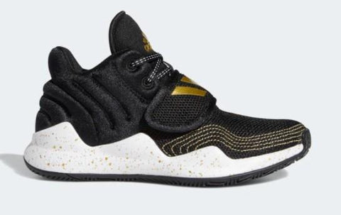 Adidas Deep Threat Boys Basketball Shoe Black-Gold | Sneakers Plus