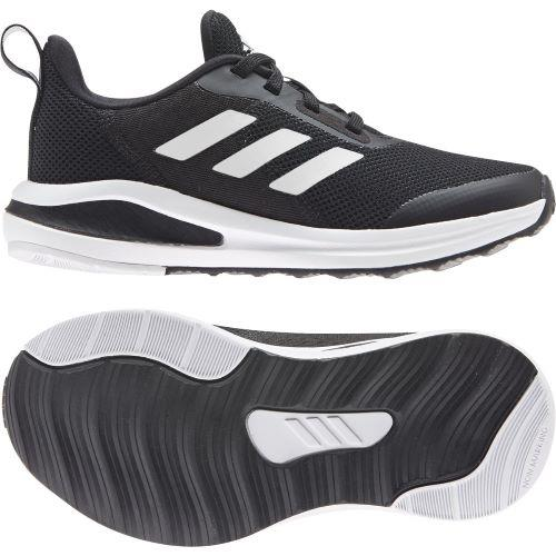 Adidas FortaRun Boys Running Shoes Black-White | Sneakers Plus