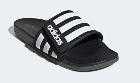 Adidas Adilette Comfort Adj Slide Black-White | Sneakers Plus